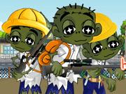 Cute Zombie School Defense